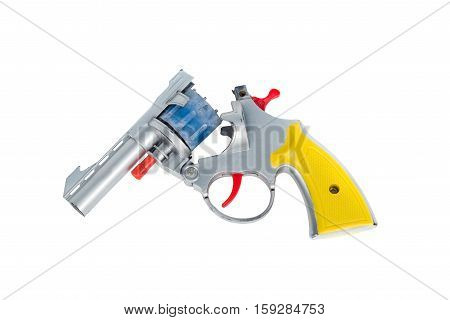 Toy Hand Gun, Isolated On White Background