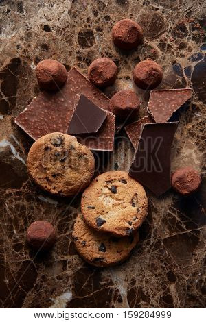 Chocolate chip cookies and chocolates