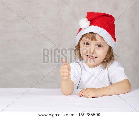 Boy In Santas Hat