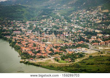 panoramic View Of Mtskheta, Georgia. Not far from Tbilisi.