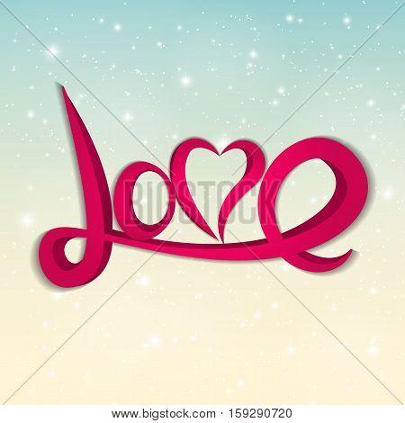St Valentine s Day Greeting Card Vector Illustration EPS10