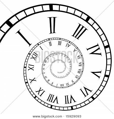 Spiral Roman Numeral Clock Time-Line