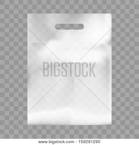 Blank Plastic Bag Mock Up. Empty Polyethylene Package