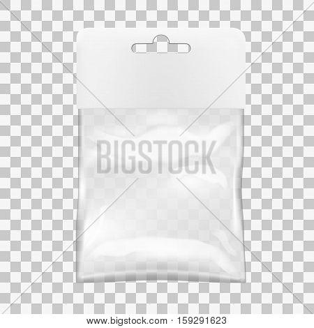 Transparent Blank Plastic Bag With Hang Slot