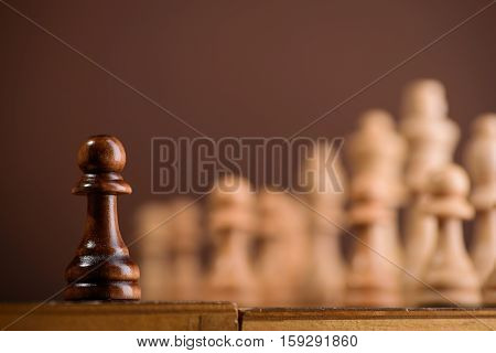 Close Up Of Chess Piece Pawn