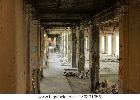 Renovated Building Site under Construction Interior view