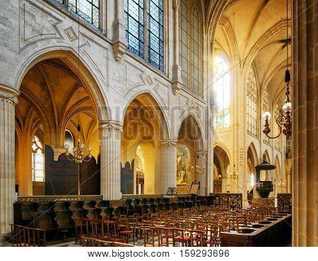 Сatholic Church Of Saint Germain Of Auxerre In Paris, France.