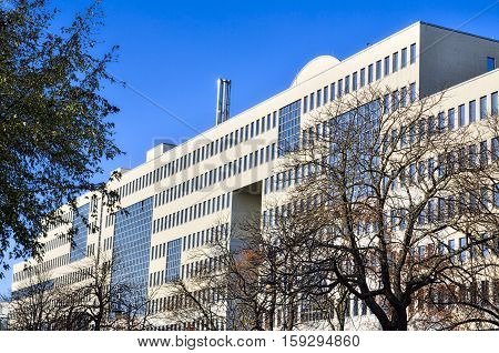 Office building in Berlin Kreuzberg in autumn