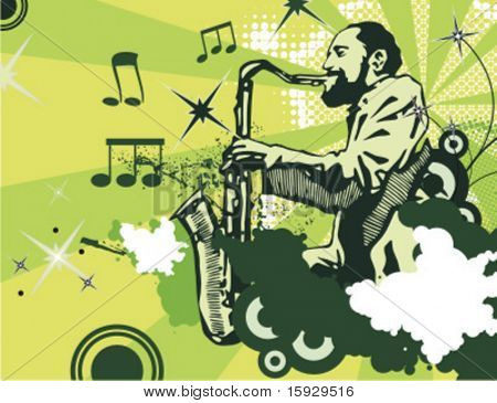 Exclusive Series of Abstract Musician Backgrounds. Check my portfolio for much more of this series as well as thousands of similar and other great vector items.