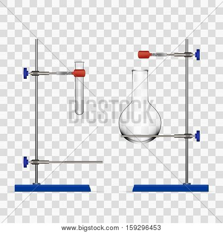 Chemistry Lab Flask And Tubes Grip Stand Holder
