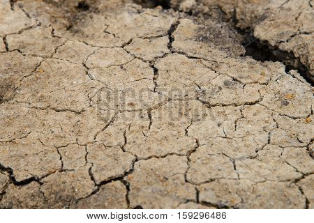 drought land - cracked ground - stock photo
