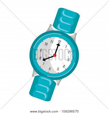 wristlet watch isolated icon vector illustration design