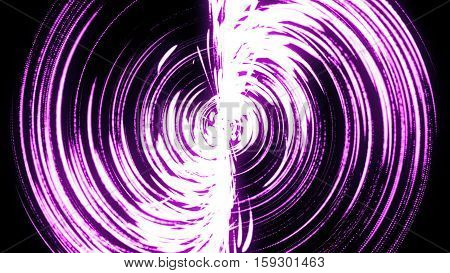Abstract background with purple swirl particles. Art background