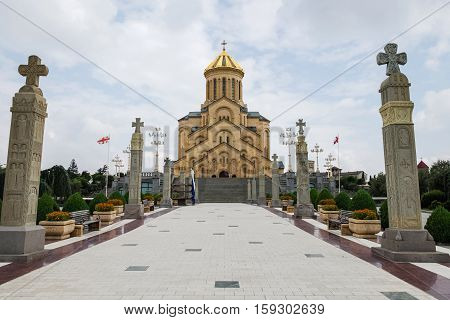 The Holy Trinity Cathedral Of Tbilisi Known As Sameba