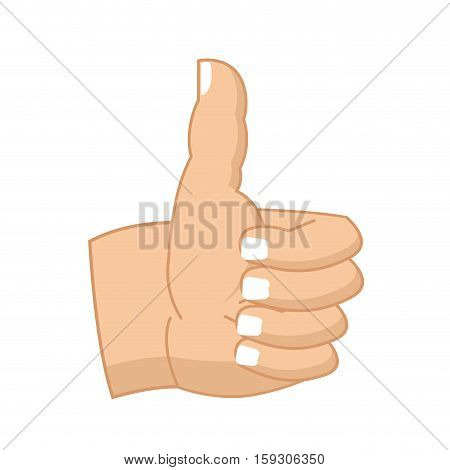 Thumbs Up Hand Sign Isolated. Like Symbol All Right. Success Gesture Hands