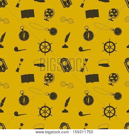 icon set in a nautical theme (globe anchor compass and other things)