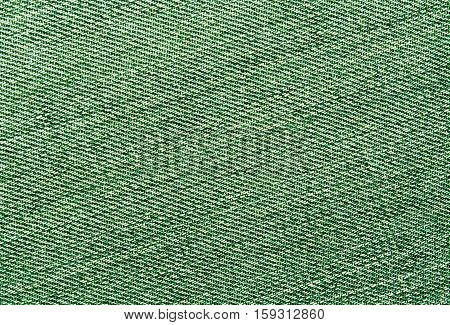 Close-up Of Green Jeans Cloth.