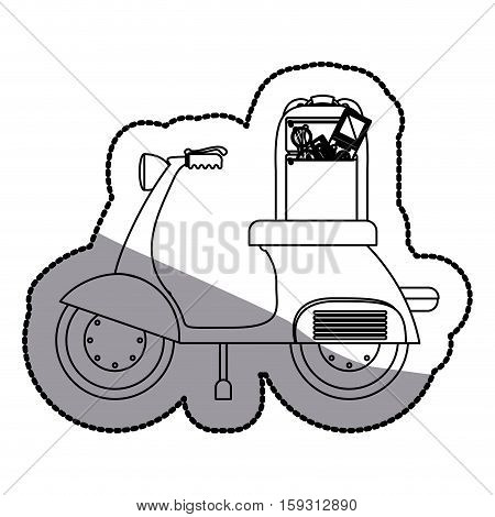 Motorcycle icon. Motor motorbike vehicle and travel theme. Isolated design. Vector illustration