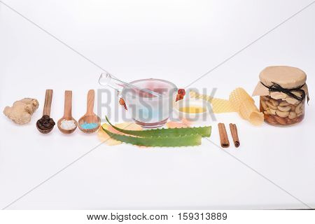Homemade Cosmetics Isolated On White