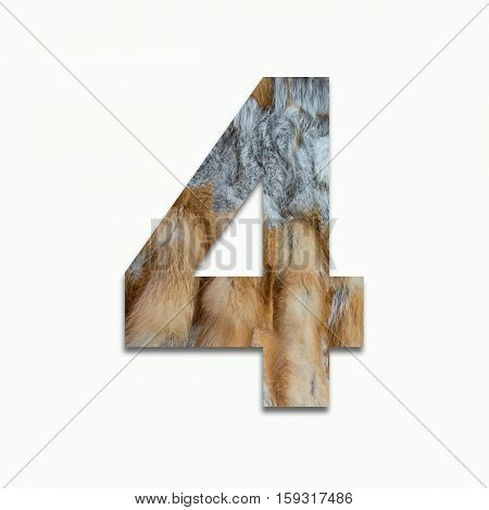 4 red fox fur in a font trained