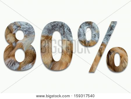 80% red fox fur in a font trained