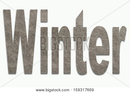 Winter Angora Wool in a font trained