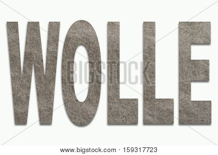 Wool Angora Wool in a font trained