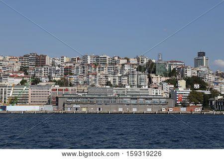 Karakoy District In Istanbul City
