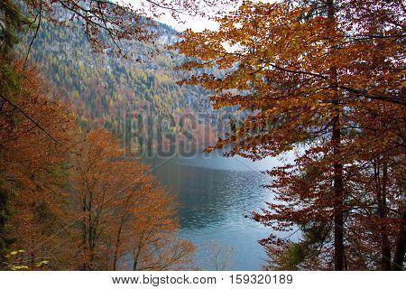 Koenigsee (Bavaria, Germany) / Lake in the fall