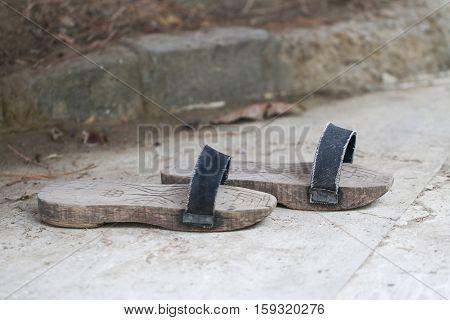 Handmade woodenn sandal. Turkish bath clogs (nalin).