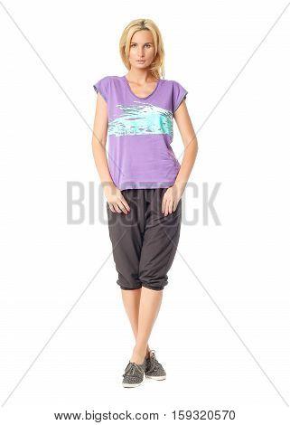 Beautiful Sexual Model Blonde Pose In Black Breeches