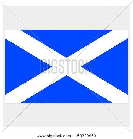 Flag of Scotland on a grey background