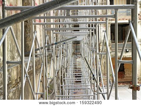 New Scaffolding using in the Construction Site