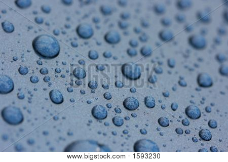 Steel Blue Waterdrops