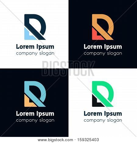 Abstract D letter logo icon sign symbol. D vector logotype