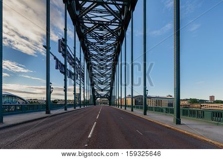 The Tyne Bridge is a through arch bridge over the River Tyne in North East England linking Newcastle upon Tyne and Gateshead.