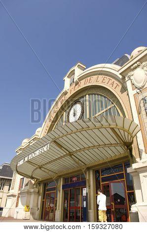 Train Station In Rochefort, Charente Maritime, France