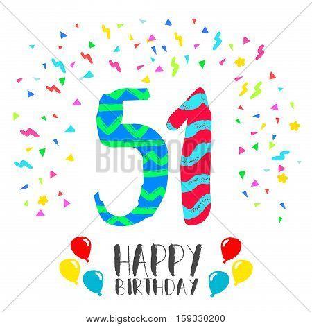 Поздравления с рождения 51 год