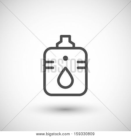 Hydration bladder line icon isolated on grey. Vector illustration