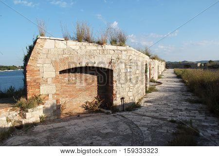 St. Nicholas fortress Sibenik, Croatia. 16 century St. Nicholas fortress.
