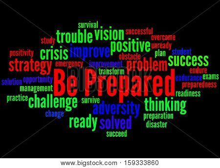 Be Prepared, Word Cloud Concept 6