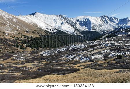 Snow-capped Rocky Mountains with in Colorado, America