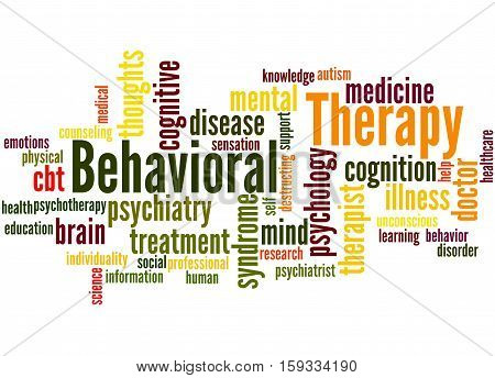 Behavioral Therapy, Word Cloud Concept