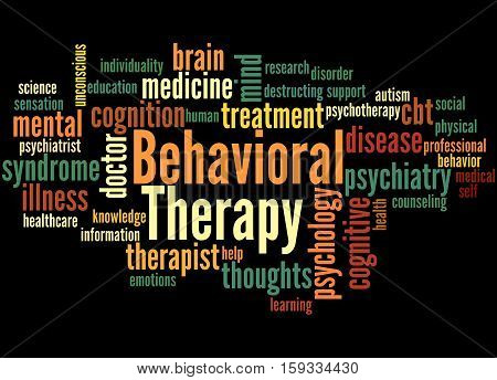 Behavioral Therapy, Word Cloud Concept 5