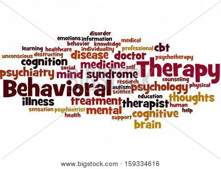 Behavioral Therapy, Word Cloud Concept 7