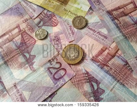 Scottish Pound Notes And Coins