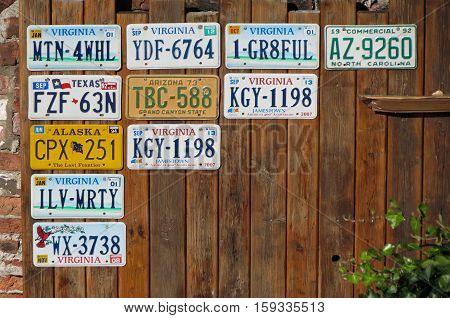 YORK UK - CIRCA AUGUST 2015: vehicle registration plates