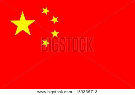 Flag of China officially the People's Republic of China (PRC) is a sovereign and unitary state in Asia. Vector illustration