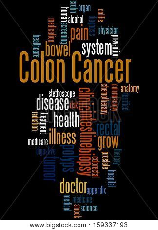 Colon Cancer, Word Cloud Concept 3