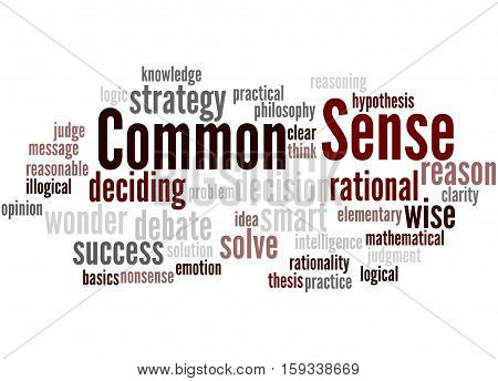Common Sense, Word Cloud Concept